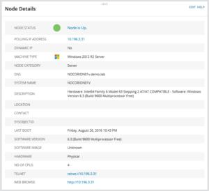 Orion Server Managed via Agent